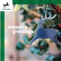 Lloyds Bank Christmas card